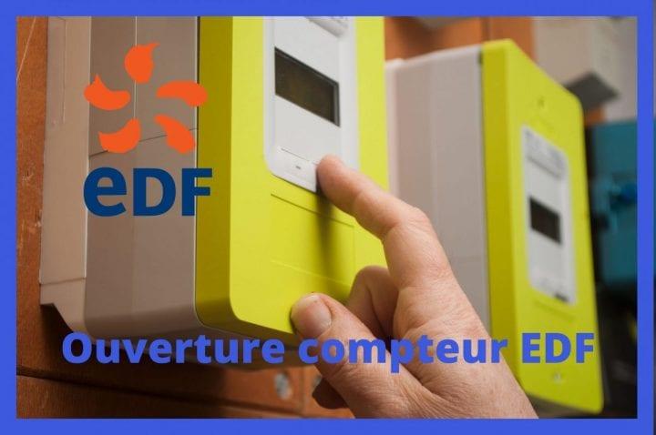 Ouverture compteur EDF