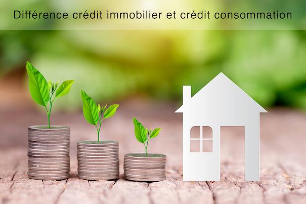 Différence crédit immobilier et crédit consommation