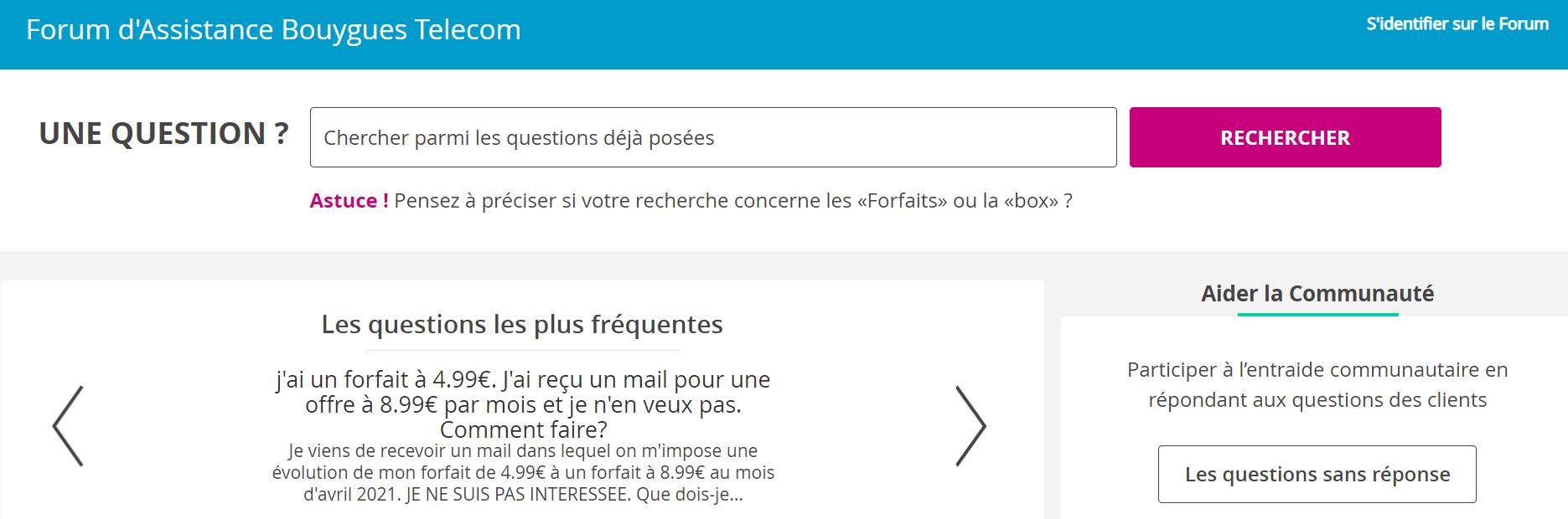 Forum Woobees de Bouygues Telecom