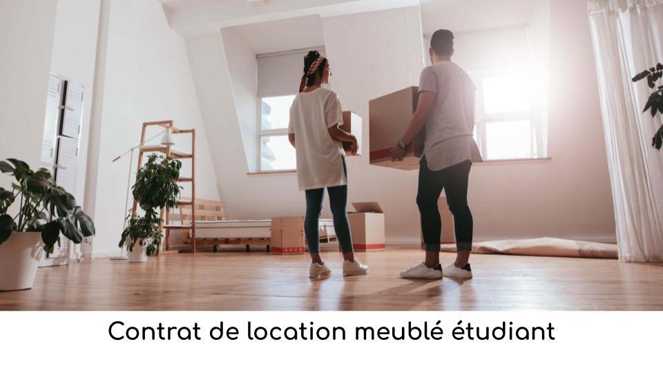Contrat De Location Meuble Etudiant Gratuit A Telecharger