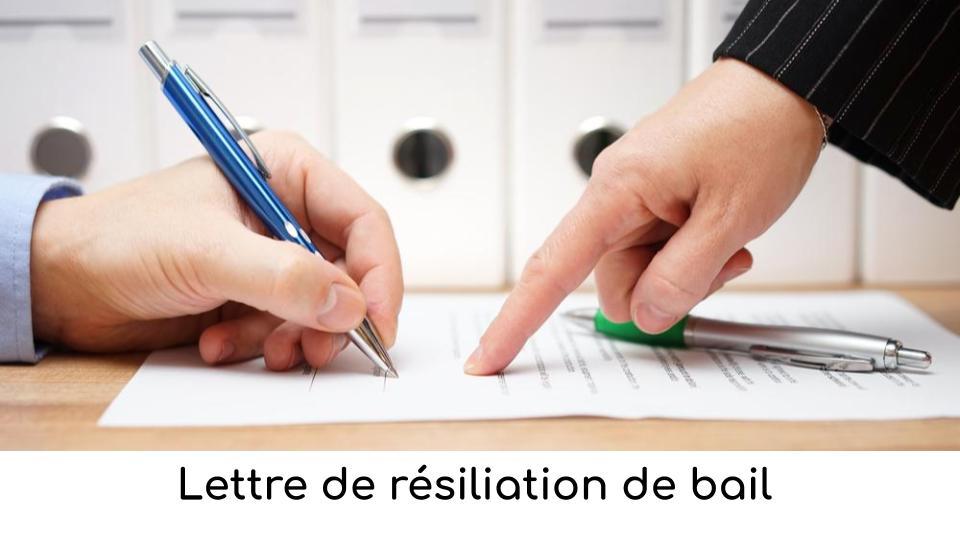 Lettre Resiliation Bail Comment La Rediger