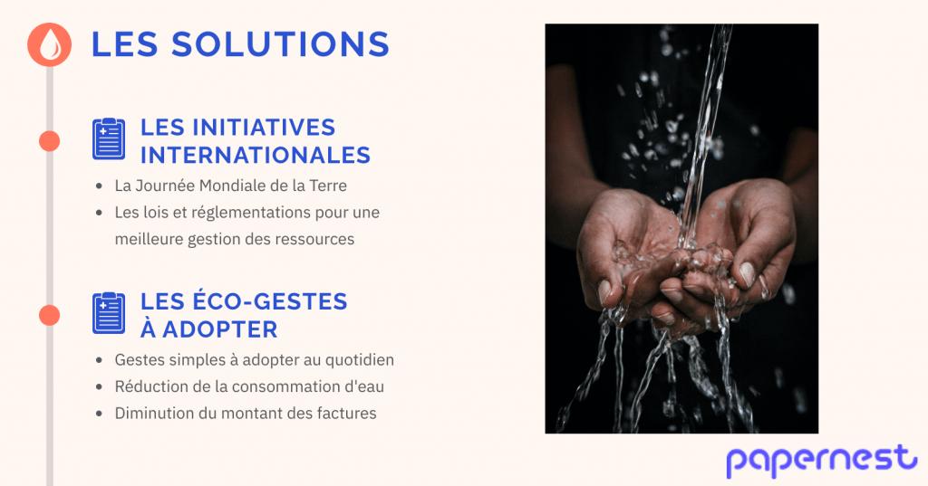 Disparation de l'eau potable dans le monde les solutions