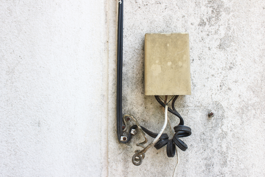 ADSL component on white wall