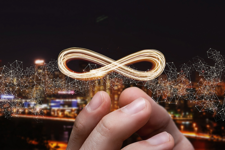 unlimited anytime phone calls and broadband packages - infinity firework over cityscape