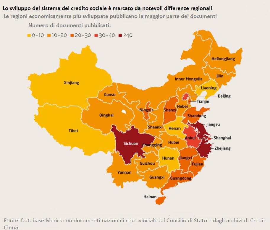 Sviluppo a livello regionale del sistema del credito sociale