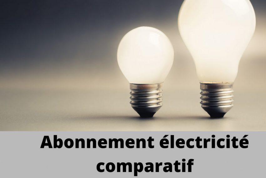 Abonnement electricite comparatif