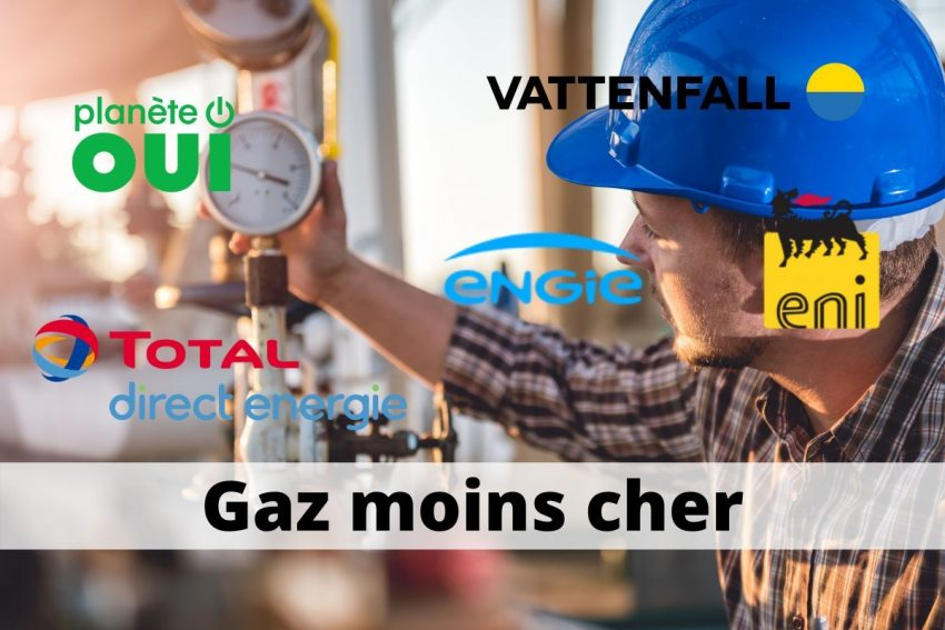gaz moins cher